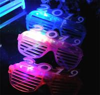Wholesale lady masks online - 2019 LED Flash Light Glasses Christmas New Year Party Decoration Lady Girl Fashion Supplies Window Shades Plastic Eyeglass sl hh