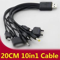 usb multi charge cable venda por atacado-Universal 10 em 1 fio usb cabo de carregamento para telefones móveis multi cabo de carregador de linha carregador para samsung htc android phone