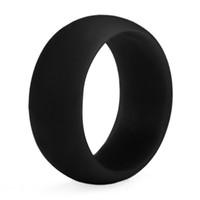 4,5 paar ringe großhandel-Heißer verkauf Silikon Hochzeit Ringe Frauen s Hypoallergen O-ring Band Komfortable Lightweigh Männer Ring für Paar Design Modeschmuck Geschenk