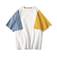 Wholesale animals lists for sale - 2018 Summer Korean Man Color Short Sleeve T Pity Easy Round Neck Pure Cotton Student Clothes HIP HOP The new listing Recommend