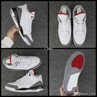 timeless design 3e861 29e34 2018 Nuovo Air Jordan retro 3 III JTH NRG 3s Justin Timberlake Rosso Fuoco  Bianco Cemento Mens Scarpe da basket Sport Sneakers AV6683-160 Scarpe uomo  Taglia ...