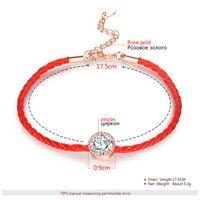 rote fadenkristalle großhandel-ROXI Österreichische Kristalle Charme Armbänder für Frauen Dünne Rote Faden Schnur Seil Mode Trendy Armband Armreifen Schmuck Pulseras