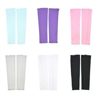 Wholesale uv protection arm sleeves - Gardening Labor Anti UV Cooling Arm Sleeves Outdoor Sun Protection Elasticity Sleevelets Outdoor Sports Stretch by harden