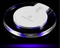 portable iphone charger großhandel-Drahtloses Ladegerät Tragbares Handy-Ladegerät Schnellladung Runde Pad Beleuchten Qi Drahtloses Ladegerät für Iphone X 8 Samsung S8 S8 plus