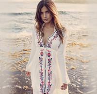 Wholesale ladies swimwear dresses - Ladies Beach Cover Up Loose Swimwear Women Beach Cardigan Summer Cover Ups Bikini Sunscreen Bathing Beach Wear Dress