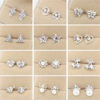 Wholesale gold earrings online - Fantastic Styles Crystal Rhinestone Faux Pearl Studs Alloy Earrings Dangle Sliver Plated Chandlier for Women
