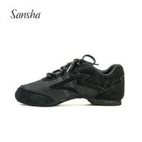 Wholesale sneaker dance - Sansha Practice Salsa Jazz Modern Dance Sneakers Mesh and Suede Upper Indoor Sole Dancing Shoes V931LS