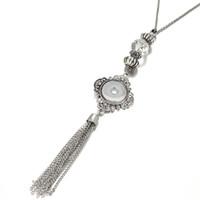 Wholesale men's necklaces online - Women S Vintage Tassel mm Snap Button Necklace Pendant Boho Bohemian Pendants Without Chain Diy Jewelry For Men Mix Styles