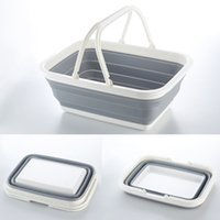Wholesale Bathroom Hand Sink - Folding Hand Basket Multifunction Practical Bathroom Sink Baskets Plastic Kep Novel Style High Quality Simple Factory Direct 21ym X