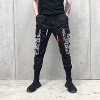 Wholesale cotton pants men back - Men Joggers Elasticated Hip Hop Fashion Back To School Jogger Pants Casual Pants Men Jogger Pants