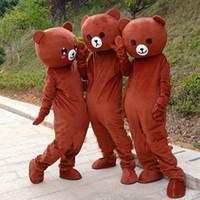 ursinho de pelúcia venda por atacado-2018 venda quente rilakkuma mascote urso de pelúcia anime traje da mascote frete grátis