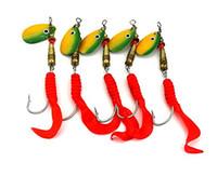 isca spinner toptan satış-LENPABY 10 adet metal pullu spinner kaşık balıkçılık lures yapay peche wobble bas japonya hooks balıkçılık yemler isca pesca balıkçılık ele ...