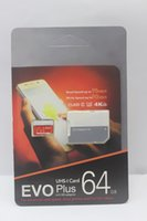 32gb micro sd karten großhandel-2019 die neueste produkt 128 GB 64 GB 32 GB EVO PLUS gute Micro SD TF Karte 256 GB UHS-I Class10 Mobile Speicherkarte 1 stücke