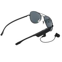 a8 наушники оптовых-A8 Bluetooth-гарнитура солнцезащитные очки поляризованные очки беспроводной BT4.1 EDR музыка наушники Micro USB громкой ж / микрофон открытый наушники