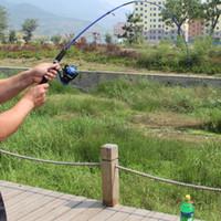 señuelos de pesca de mar al por mayor-1.2 M Telescópica caña de pescar Spinning caña de pescar Acción rápida Señuelo de la pesca Sección del alimentador Sea Fish Tackle Polo equipo