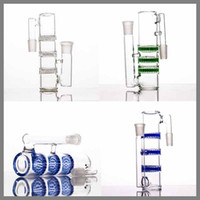 Discount layer honeycomb bong Smoking Accessories Ash Catcher for Glass Bongs 14 mm 18mm Male Female three layers honeycombs ashcatcher bubbler