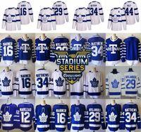 ingrosso foglia di acero bianco-2018 Stadium Series Hockey 1918 1919 Toronto Arenas Jersey Maple Leafs 16 Mitchell Marner 29 William Nylander 34 Auston Matthews Blu Bianco