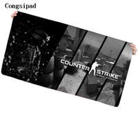ingrosso grande mouse pad nero-Congsipad black cs go game pad per mouse di alta qualità antiscivolo tastiera per laptop con chiusura di precisione per tappetino da gioco dota 2