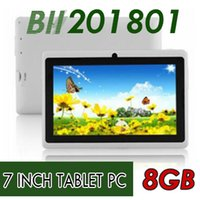 tablet pc ram toptan satış-10X7 inç Kapasitif Allwinner A33 Quad Core Android 4.4 çift kamera Tablet PC 8 GB RAM 512 MB ROM WiFi EPAD Youtube Facebook Google DHL