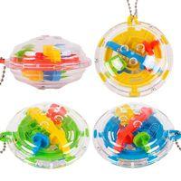 детские игры в лабиринте оптовых-Головоломка Maze Ball Magic Cube Игрушки 3D Мини Лабиринт Обучающие Игрушки для Детей Игра-Головоломка Игрушка Детям Подарок NNA215