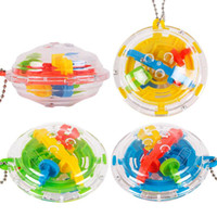 Wholesale 3d puzzle ball game - Puzzle Maze Ball Magic Cube Toys 3D Mini Labyrinth Learning Toy for Children Puzzle Game Toy Kids Gift NNA215