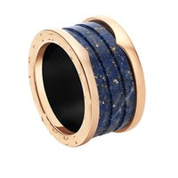 Wholesale American Marble - High quality Marble ring 316L Titanium rings Luxury Jewelry Fashion Wedding lover ring Women man Italy brand rings Attractive Ring
