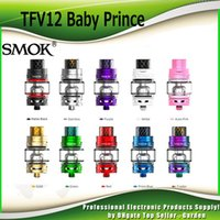 Wholesale baby king - Authentic SMOK TFV12 Baby Prince Tank 4.5ml Beast King with V8 Baby Q4 T12 Red Light Mesh Coils Atomizer 100% Genuine SmokTech