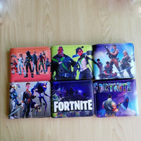 Wholesale hot action - 24pcs DHL ship Hot Game FORTNITE Cosplay Wallet With Card Holder Coin Pocket Men's Short Purse Cartoon Figure Toys Action Toys for Kids Gift