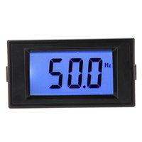 indicador azul digital al por mayor-10-199.9Hz LCD Azul Panel de Frecuencia Digital Medidor de Medidor de Cilindro LCD Digital Medidor De Panel de Frecuencia Gauge Instrumentos