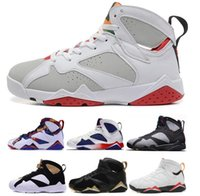 Wholesale cheap cotton netting - Cheap 7 Men Basketball Shoes 7s Hare University Blue French Blue GMP Raptor Nothing But Net Bobcats MARVIN THE MARTIAN Cardinal Sneakers