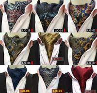 gravata do ascoto gravata venda por atacado-Retro Paisley Cravat Homens De Luxo Casamento Cravat Formal Estilo Britânico Gentleman Lenços De Seda Pescoço Laços Terno Cachecóis de Negócios Gravata