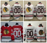 jersey de clark griswold al por mayor-Chicago Blackhawks 00 Clark Griswold National Lampoon's Christmas Vacation Hockey Jerseys Blanco Rojo Clark Griswold Stitched Jersey