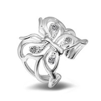 Wholesale copper list - Brand New silver butterfly ring fashion new products Christmas gifts listed in Europe and the accessories R36