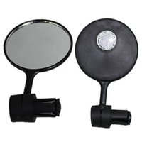 Wholesale rear light bike for sale - MTB Road Mountain Bike Rear View Flexible Flat Mirror Plastic Glass Bicycle Handlebar Reflective Cycling Safety Riding Pure Color yx bb
