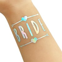 Wholesale art favors online - Popualr Team Bride Temporary Tattoo Stickers Fashion Rainbow Color Paster For Bridal Shower Party Decoration Favors ns BB