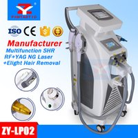 Wholesale ipl rf laser - 5 in 1 Multifunction Strong Energy OPT SHR IPL Laser Hair Removal ND YAG Laser Tattoo Removal Beauty Machine IPL&RF & ND YAG&Elight