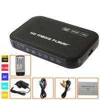 Wholesale mp4 player av - H6W HDD Media Player 1080P Full HD Input SD USB HDD Output HDMI AV VGA AV Support DIVX AVI RMVB MP4 Set-top Box