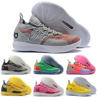c121cb6aaf11 2018 New KD 11 BHM Paranoid Home Blue Yellow Kevin Durant XI Basketball  Shoes AAA+quality 11s KD11 Men Classic Sneakers Size 40-46