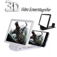 Wholesale Eye Expander - Universal Mobile Phone Screen Enlarger Amplifier Magnifier 3D Video Display Folding Enlarged Expander Eyes Protection Holder Retail Package
