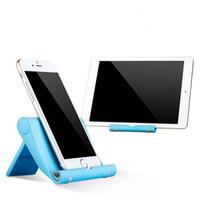katlanabilir telefon tutacağı standı toptan satış-Renkli masaüstü Evrensel Katlanabilir standı tutucu cep telefonu katlanır tutucu Tablet PC tüm akıllı telefon için tembel stent ücretsiz kargo