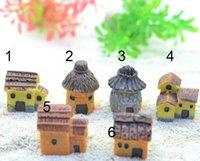 ingrosso giardini in pietra-Fairy Garden Miniature Stone House Decorazione casuale stile micro paesaggio