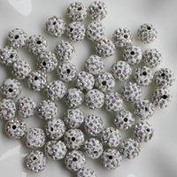 ingrosso perline di sfera del rhinestone 12mm-12mm 100 pezzi di cristallo pavimenta perline di argilla palla da discoteca, polimero argilla strass perline gioielli tondo amuleti