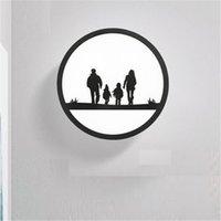 appliques murales pour enfants achat en gros de-Simple Moderne LED Applique Plafond Creative Chambre Enfants Applique Murale Fer Acrylique Luminaires Éclairage Éclairage À La Maison Lamparas