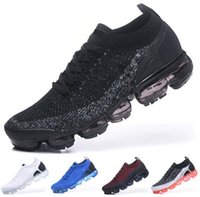 Wholesale fashion knit fabrics - 2018 New Vapormax 2 2.0 Men Women Running Shoes Sneakers Knitting TPU Fashion Athletic Sports Jogging Walking Trainers,17 colors,Size 36-45
