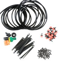 Wholesale diy drip hose online - 25m DIY Micro Drip Irrigation System Plant Self Watering Garden Hose Kits Hogard