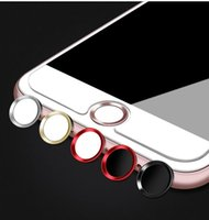 разблокировать iphone s оптовых-Главная кнопка наклейка протектор клавиатура Keycap для IPhone 5s 5 SE 4 6 6 S 7 плюс поддержка отпечатков пальцев разблокировать сенсорный ключ ID