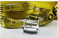 Wholesale fashionable belts - a01 with box 2018 new fashionable high quality canvas belt designer brand men's leisure multi-colored canvas off belt men and women.