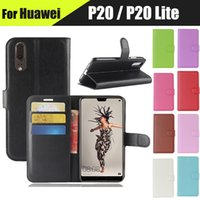 Wholesale iphone 7s wallet case online - Litchi Wallet Flip PU Leather Case With Card Slots Stand For Huawei Enjoy S P Smart P20 Lite Plus Honor C X X Mate NOVA S