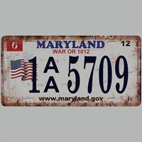 Wholesale car paint numbers for sale - Group buy MARYLAND Car Plates Number USA License Plate Garage Plaque Metal Tin Sign Bar Decoration Vintage Home Decor