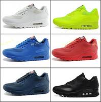 dia da independência tênis venda por atacado-Homens 90 HYP PRM QS Sneakers Dia da Independência Homem Casual Tênis Zapatillas EUA Tamanho Da Bandeira 40-46